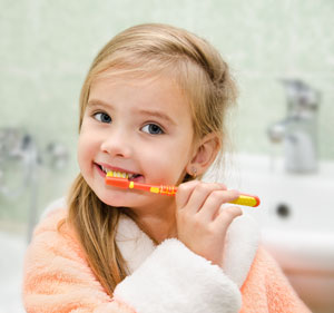 Brushing Teeth - Pediatric Dentist in California, MD