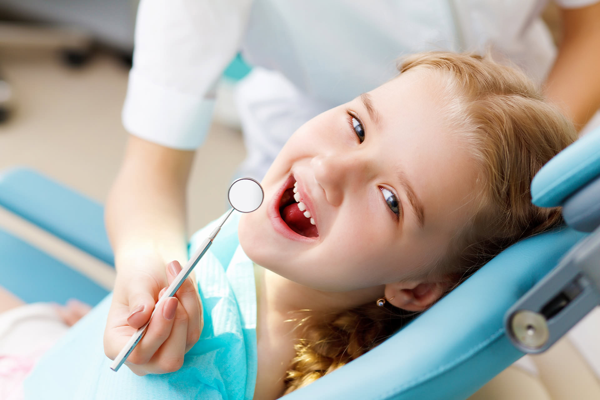 Girl in Dental Chair - Pediatric Dentist in California, MD